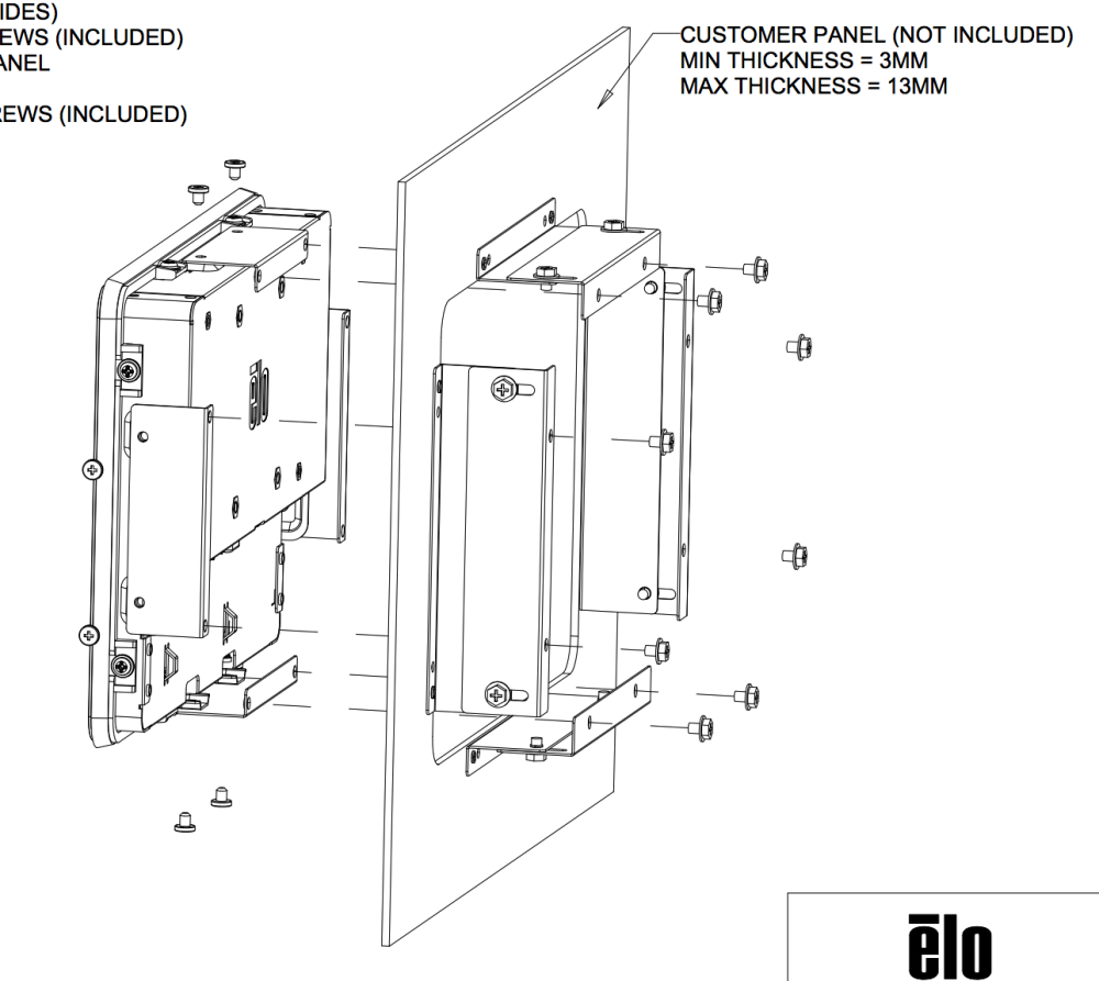 1093L PCAP Flush-Mount Bracket Kit