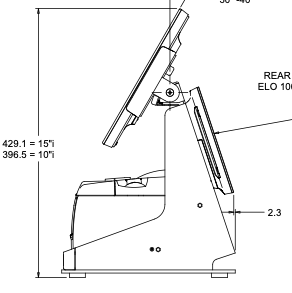 Elo mPOS flip stand, can house 3