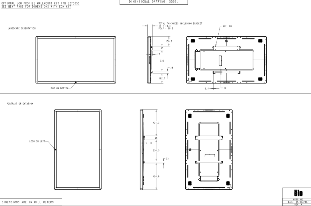 Wall Mount bracket kit for IDS 02 Series